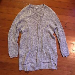 Madewell marled postscript grey cardigan sweater